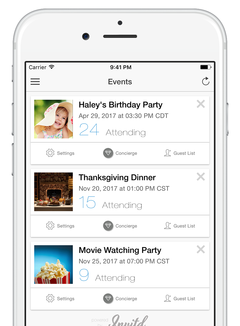 Invitd invitations by text message for ios and android invitd sends amazing invites by text message so you dont have to worry about rsvps filmwisefo